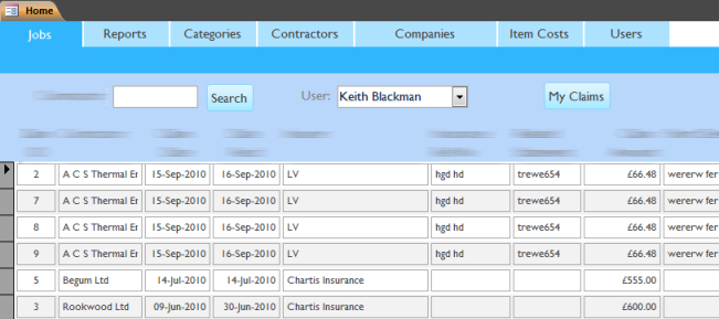 Application Navigation form built using Access 2010