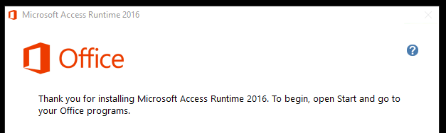 Access runtime installation